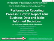 VIDEO:  Performance Reporting Process - How to Report Performance