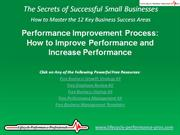 VIDEO:  Performance Improvement Process - How to Improve Performance
