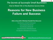 VIDEO:  Reasons for New Business Failure and Success