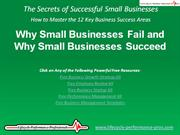 VIDEO:  Why Small Businesses Fail and Why Small Businesses Succeed