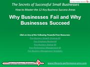 VIDEO:  Why Businesses Fail and Why Businesses Succeed
