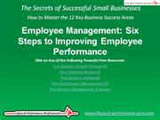 Video: Employee Management - 6 Steps to Improving Employee Performance