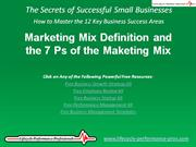 Video: Marketing Mix Definition and the 7 Ps of the Maketing Mix