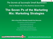 Video:  The Seven Ps of the Marketing Mix - Marketing Strategies