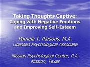 Taking Thoughts Captive Power Point
