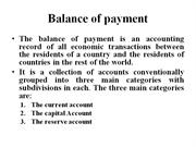 Forex - 9 - Balance of payment