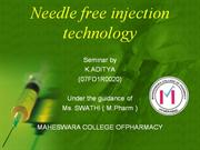 NEEDLE-FREE INJECTION TECHNOLOGY