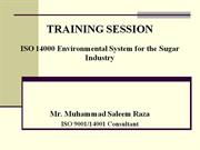 ISO 14000 Training session