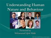 Understanding Human Nature and Behaviour