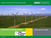 RWEI 2011 - Small Wind Energy Systems
