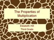 The Properties of Multiplication