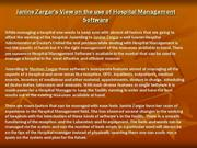 Janine Zargar's View on the use of Hospital Management Software