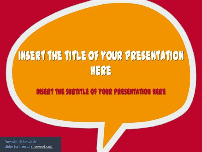 Speech bubbles powerpoint template authorstream toneelgroepblik Images