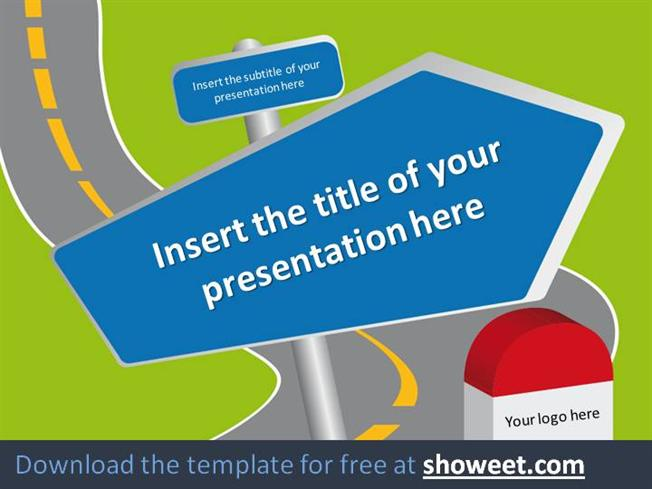 Road signs powerpoint template authorstream toneelgroepblik Choice Image