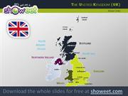 Maps of United Kingdom for Powerpoint