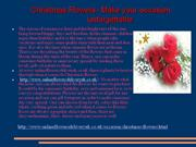 Christmas Flowers- Make your occasion   unforgettable
