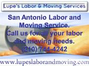 Lupes Labor and Moving Services