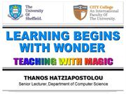 Learning Begins with Wonder - Teaching with Magic