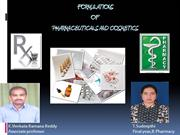 FORMULATIONS OF PHARMACEUTICALS  AND COSMETICS  ppt 1