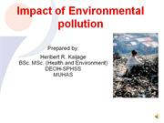 Impact of environmental pollution