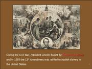 From Slavery to the White House PowerPoint