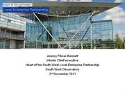 Heart of South West LEP: Priorities and Evidence Needs