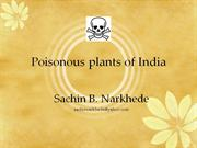 Poisonous plants of India