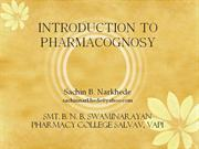 Pharmacognosy introduction