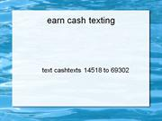 earn cash texting