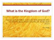 500-8 What is the Kingdom of God?
