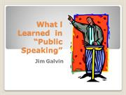 What l Learned Public Speaking