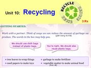 English 8 - Unit 10 - Recycling
