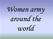 Women army around the world