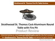 Strathwood St. Thomas Cast-Aluminum Round Table with Fire Pit Review