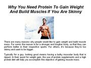 Why You Need Protein To Gain Weight And Build Muscles If You Are Skinn