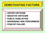demotivation factor