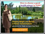 How to choose a good health retreat in NSW- ontrackretreats.com