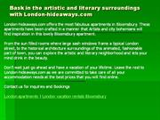 Bask in the artistic and literary surroundings with London-hideaways.c