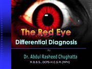 Red eye, Differential Diagnosis