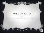 Ruby on Rails Presentation Coursework