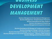 Business Development Management ....