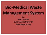 Bio-Medical Waste Management System