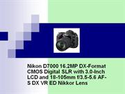 Nikon D7000 16.2 MP Digital Camera