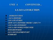 JAVA EVOLUTION
