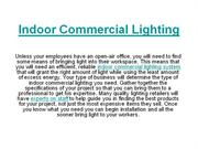 Indoor Commercial Lighting