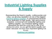 Industrial Lighting Supplies & Supply