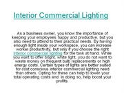 Interior Commercial Lighting
