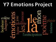 Emotions Project & Dictionary Skills