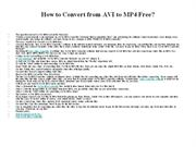 How to Convert from AVI to MP4 Free