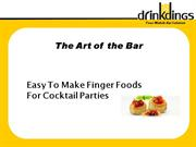 Easy to Make Party Finger Foods by Drinkdings